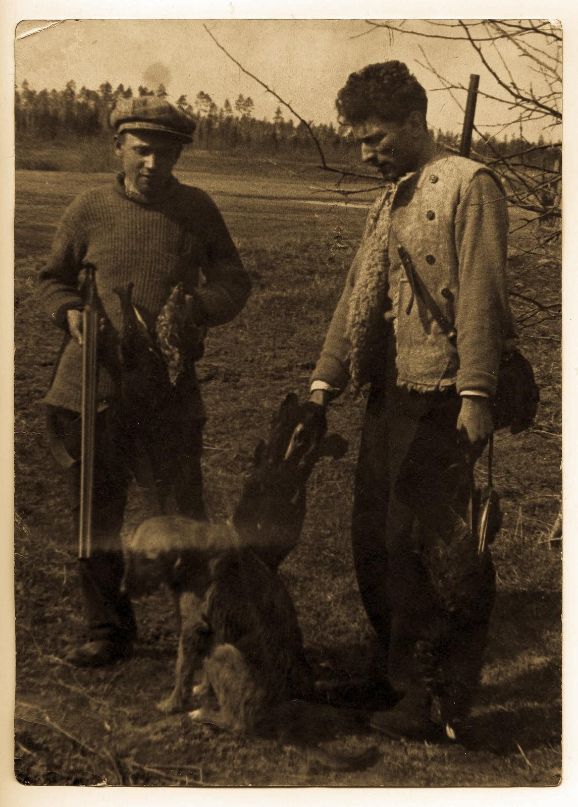 ретро фото про охоту рабочим
